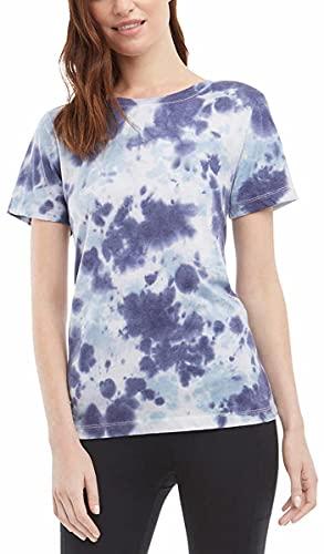 Danskin Womens Tie Dye Tee Shirt (Neptune Combo, Small)