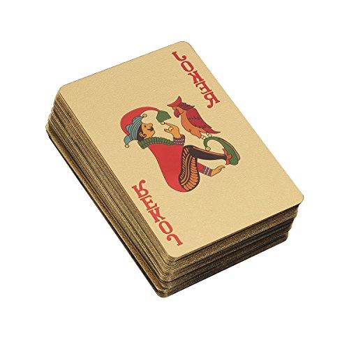 TOYMYTOY Gold Spielkarten Plated 500 Euro Deck Pokerkarten Luxus Design für Kartenspiel
