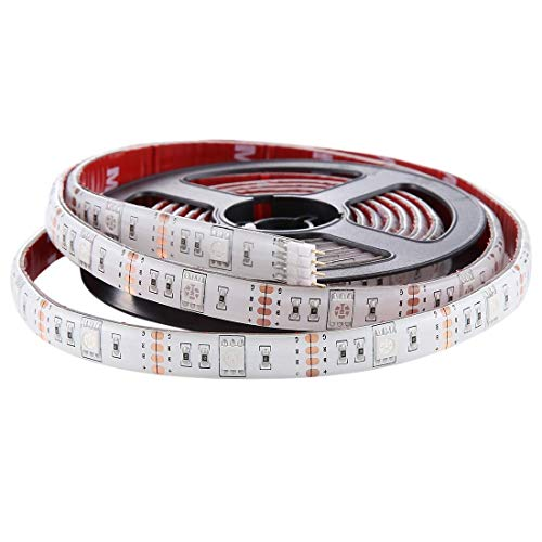 MZXUN 60 Leds SMD 5050 White Board TV USB Cuerda Colorida epoxi Luz con 50 cm Cable de Interfaz USB y 17 Teclas de Control Remoto, Duración: 2m, Tiras DC 5V LED de la lámpara LED