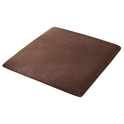 YYRZ Wicker Seat Cushion Indoor Outdoor Universal Patio Decorative Wicker Chair Seat Cushion Pad Solid Color Linen Cushion Thick Linen Tatami Mat Washable Cloth 40X40cm,Brown,40x40