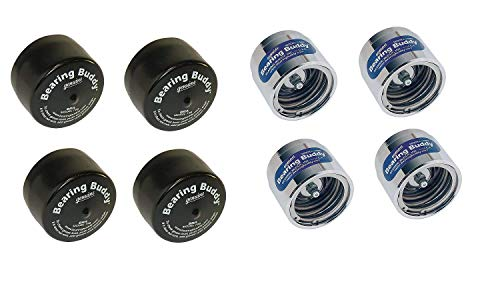 Bearing Buddy Caps - Trailer Bearing Dust Cap Protector for Trailers - Chrome Buddy Bearing Caps of 1.980  Diameter - Bearing Buddies for Trailers to Keep Water and Dirt out of Hub and Bearings-2Pairs