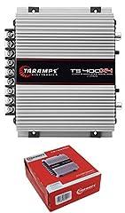 1 x Taramps TS400X4 Full Range Amplifier Quantity: 1 Amplifier Number of Channels: 04 Max Power at 13.8 VDC 2 Ohms: 400W (4 x 100W RMS) Max Power at: 13.8 VDC 4 Ohms: 252W (4 x 63W RMS) Bridged at 13.8 VDC 4 Ohms: 400W (2 x 200W RMS) Input Sensitivit...