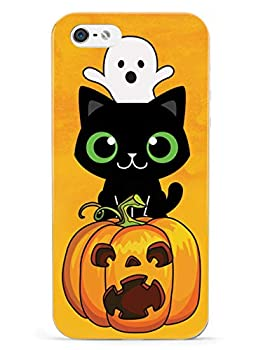 Inspired Cases - 3D Textured iPhone 5/5s/5SE Case - Rubber Bumper Cover - Protective Phone Case for Apple iPhone 5/5s/5SE - Cute Halloween Trio - Fall Background
