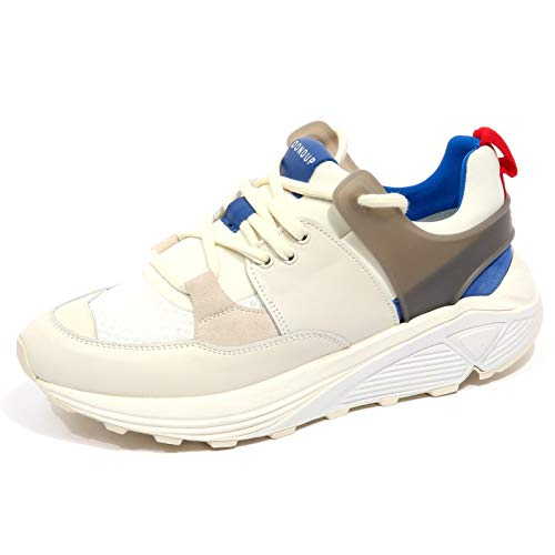 DONDUP F9864 Sneaker Uomo off White D/One Vintage Effect Shoe Man [41]
