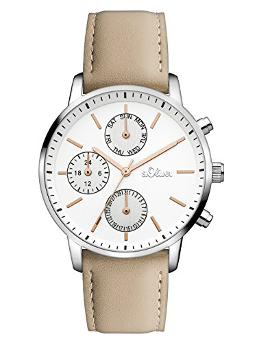 s.Oliver Damen Analog Quarz Uhr SO-3242-LM