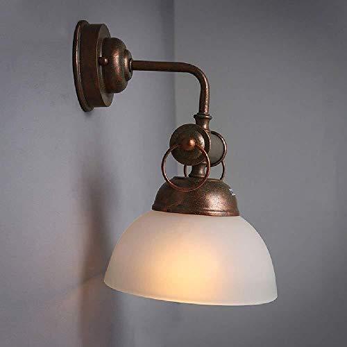 Kristallen wandlamp, creatief, voor hal en slaapkamer, plafondlamp, vintage decoratie, wanddecoratie, herkomst, eenvoudige installatie, glas + 7,87 x 11,8 inch ijzer