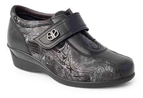 Calzafarma - Mod.14190 - Zapato de señora con Pala Elástica Ideal para juanetes y deformaciones, Aptos para Utilizar con Plantillas ortopédicas. (Numeric_40)