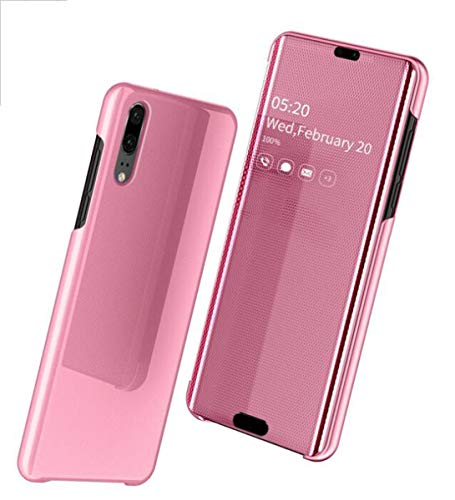 NANXCYR Voor Huawei MATE20PRO/MATE2OLITE Hoes, Verticale Spiegel Glas Terug Lederen Hoesje Anti-val Smart Flip Hoes, voor Huawei P30/P30PRO/P30LITE/Mate30/Mate30pro/Mate30lite