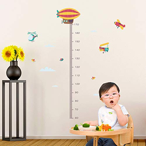 Muurstickers Grow Up Height Measurement Wall Stickers Love Growth Map Kids Room Decals