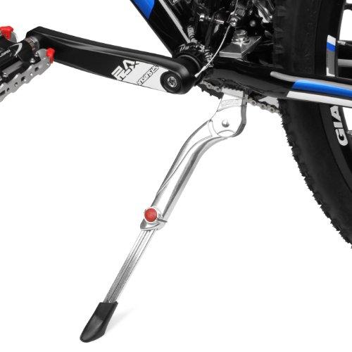 Fahrradständer, BV Seitenständer faltbarer Fahrrad Ständer einstellbarer Universal Fahrrad Ständer, Parkstütze für Mountainbike, Rennrad, Fahrräder und Klapprad ( Silver - Heavy Weight), für 24-29 Zoll Fahrräder