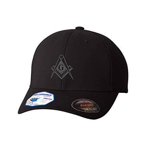 Mason Gray Thread Flexfit Adult Pro-Formance Branded Hat Black Large/X-Large