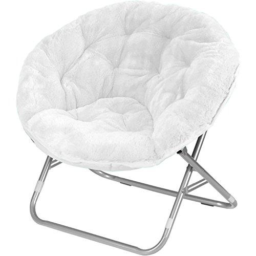 Mainstays Faux-Fur Saucer Chair (White)