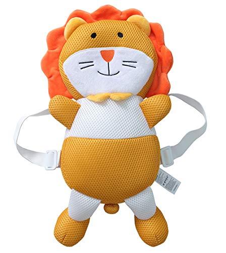Feidoog Toddler Baby Walker Head Protective Safety Pads Cushion Backpack Wear Adjustable Infant Age 4-24 Months,Orange Lion
