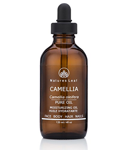 Organic Camellia Seed Oil / Tea Seed Oil / 100% Pure / Fresh Cold Pressed / Beautifies Hair, Skin And Nails / Non-Comedogenic / Hypoallergenic / 4 fl oz / by Natures Leaf