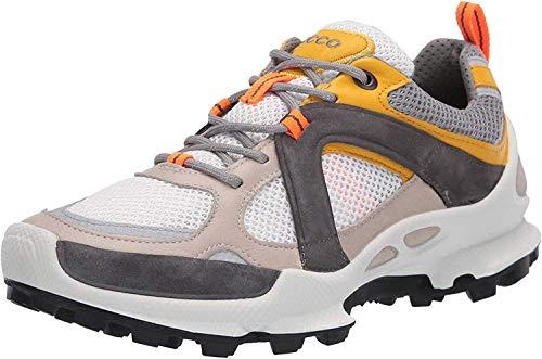 ECCO Men's Biom C Trail Running Shoe, Gravel/Merigold/White, 10.5