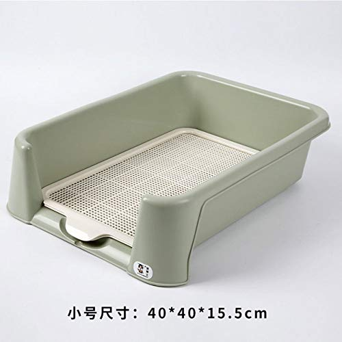 Huisdier toilet LKU Dienblad huisdiertoilet hondenhok box mat kunststof wasbaar puppy plas trainingsmat, S