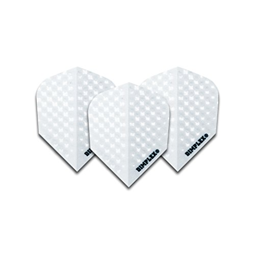 White Dimplex Dart Flights STD 4 sets pro pack (12 flights insgesamt)