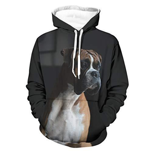 Harberry Sudadera con capucha para hombre, personalizable, para mascotas, color blanco