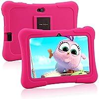 Pritom Tablet para niños de 7 Pulgadas | Quad Core Android, 1GB RAM + 16GB ROM | WiFi, | Educación, Juegos, Control Parental, Software para niños preinstalado con Funda para Tableta para niños (Rosa)