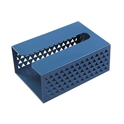 Fenteer Dispensador de Toallas de Papel montado en la Pared Soporte de Papel higiénico, encimera de contenedor Organizador, para baño de Cocina - Blue
