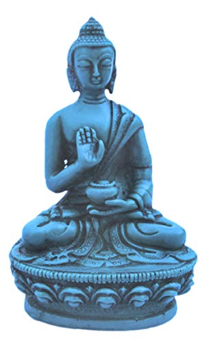 mytibetshop Meditating Buddha Turquoise for Meditation and Alter for Peace and Protection