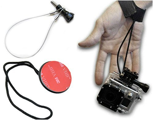 The Accessory Pro Safety Tether 3 Pack compatible with all GoPro cameras - Steel Tether, Rope Tether, Wrist / Snorkel Strap