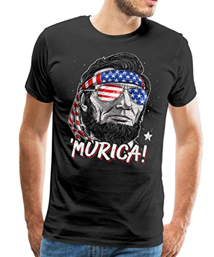 'Murica Abraham Lincoln Funny 4th of July Men's Premium T-Shirt