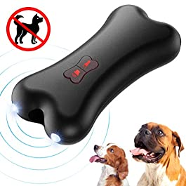 Petacc Hand held Anti barking Device Ultrasonic Dog Bark Deterrent Dog Barking Controller Training Device with LED Light, USB Charging