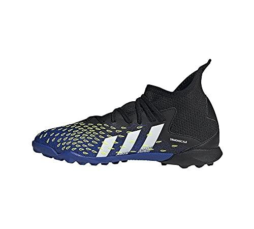adidas Predator Freak .3 Tf Soccer Shoe, Core Black Cloud White Solar Yellow, 37 1/3 EU