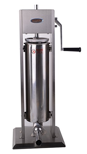 Hakka 15 Lb/7 L Sausage Stuffer 2 Speed Stainless Steel Vertical Sausage Maker