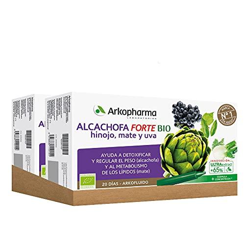 Arkopharma Arkofluido Alcachofa Forte BIO Pack 40 Ampollas, Control de peso, Eliminar Toxinas del Organismo + Asesoramiento Nutricional, Complemento Alimenticio