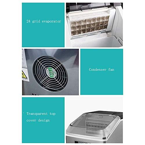 41u0+IymE3L - SEESEE.U Eismaschine, quadratische Eiswürfel in 12-20 Minuten fertig, 25 kg EIS in 24 Stunden herstellen, tragbare kleine Eiswürfelbereiter für Arbeitsplatte Home Bar Perfekt für Partys Mixgetränke