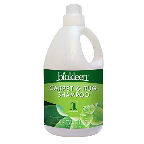 Biokleen Natural Carpet Cleaner For Machine Use and Rug Shampoo Carpet Cleaner, Safe Around Kids and Pets, Citrus Essence, 64 Ounce