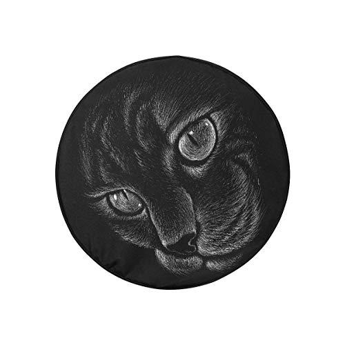 Fundas de neumáticos para camiones Szipry Logo Cat Tattoo Diseño de camiseta Fundas de neumáticos para remolques de autocaravana Bolsa de neumático de repuesto a prueba de polvo portátil de moda para