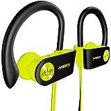 藍牙耳機,Anbes 無線耳機,IPX7 防水入耳式耳機運動附耳鉤和麥克風,HD 立體聲,長達 8 小時播放噪音消除耳機