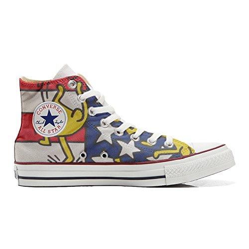Original Sneakers Personalizadas (Producto Hecho a Mano) Zapatos Personalizados (Producto Handmade) Bandera danze USA - TG34