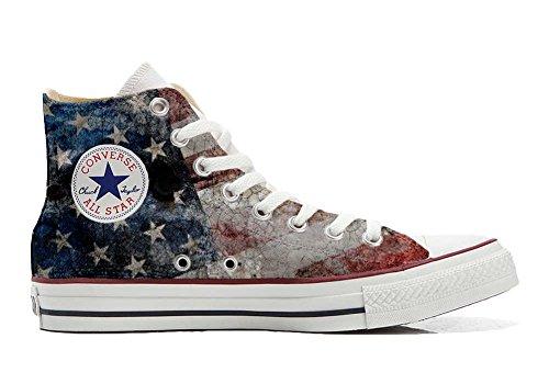 MYS Sneaker & Sportschuhe USA - Base Print Vintage 1200dpi - Italian Style - Hi Customized personalisierte Schuhe (Handwerk Schuhe) USA Old Size 39 EU