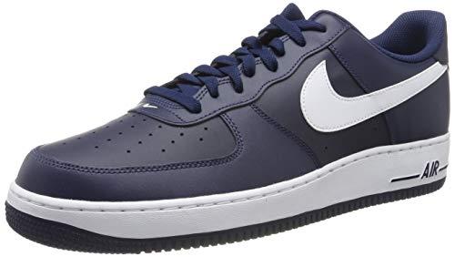 Nike Air Force 1, Zapatillas de Baloncesto para Hombre, Azul/Blanco (Midnight Navy/White-Mid Navy), 45 EU