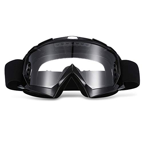 RRunzfon X400 - Gafas para motocross y esquí -Color negro