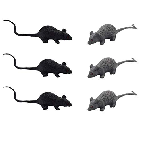 Halloween-Fälschungs-Rats Horror Maus Stütze for Tricky Spielzeug 12st (6pcs Schwarze Muster, 6pcs-Grau-Muster) zcaqtajro