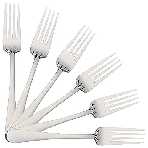 6 Tenedores de Mesa 20 x 2,65 cm Acero Inoxidable Altamente Pulido 18/0