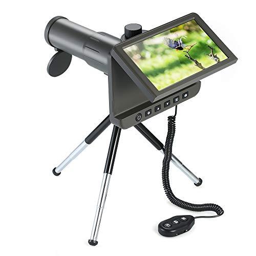 Cámara del telescopio digital, 1080P 50X portátil 14MP foto video grabadora monocular con telescopio mini trípode solo tubo para observación aves, partido fútbol, caza, pesca, aventuras aire libre