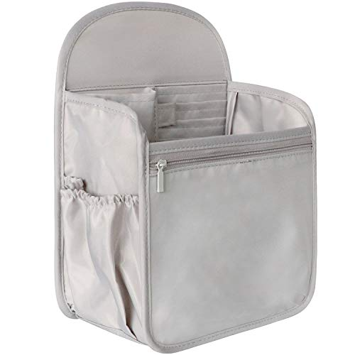 VANCORE Backpack Organizer Insert Travel Diaper Purse Organizer Waterproof Grey Small