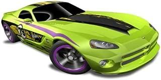 Hot Wheels - '06 Dodge Viper SRT10 (Green w/Black, Yellow Stripe) - HW Code Cars '12 - 8/22 ~ 233/247 [Scale 1:64]