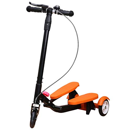 TBTBGXQ Scooter Kids Pedaling Stepper Scooter Foldable 3 Height Adjustable Bike Boys and Girls Ages 3-15 - by Portable Outdoor Toy - Up to 220 Pounds,C