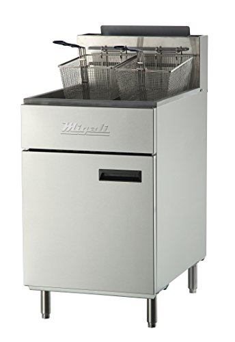 "Migali C-F75-NG Competitor Series Fryer, Natural Gas, Floor Model, 21.1"" W, 75 lb Oil Tank"