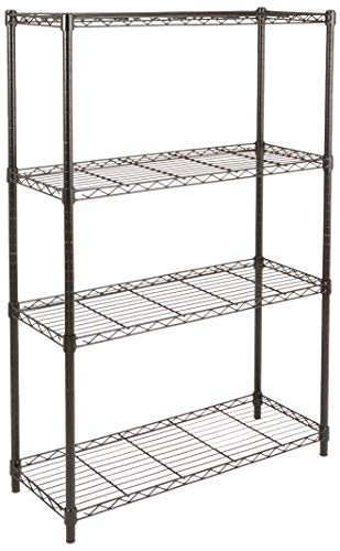 AmazonBasics 4-Shelf Shelving Storage Unit, Metal Organizer Wire...