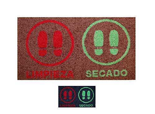 Alfombra desinfectante Calzado - Felpudo Limpia Zapatos para la Entrada, moqueta higienizante (Marrón, 40_x_58_cm)