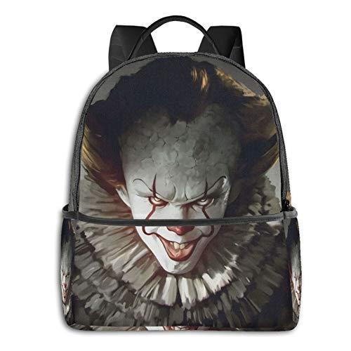 It Pennywise - Mochila de mochila informal para la escuela, al aire libre, ligera, resistente a desgarros para ordenador portátil, mochila para niñas y adultos