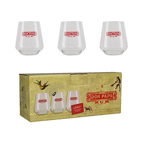Don Papa Lot de 3 gobelets en Verre